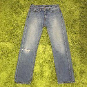 Levi's 514 Men's Size W33 L32 Blue Denim Jeans